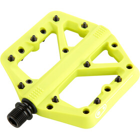 Crankbrothers Stamp 1 Pedales Splash Edition, citron